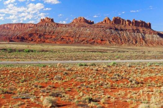 Paysage désertique à proximité de Moab, dans l'UTah (USA).