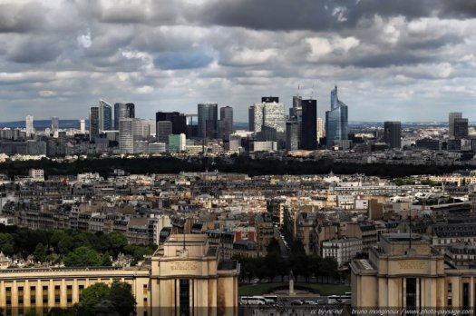 Paysage urbain : les gratte-ciels de la Défense (Paris)