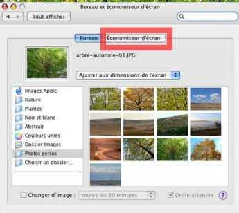 Créer un économiseur d'écran sous Mac OS X