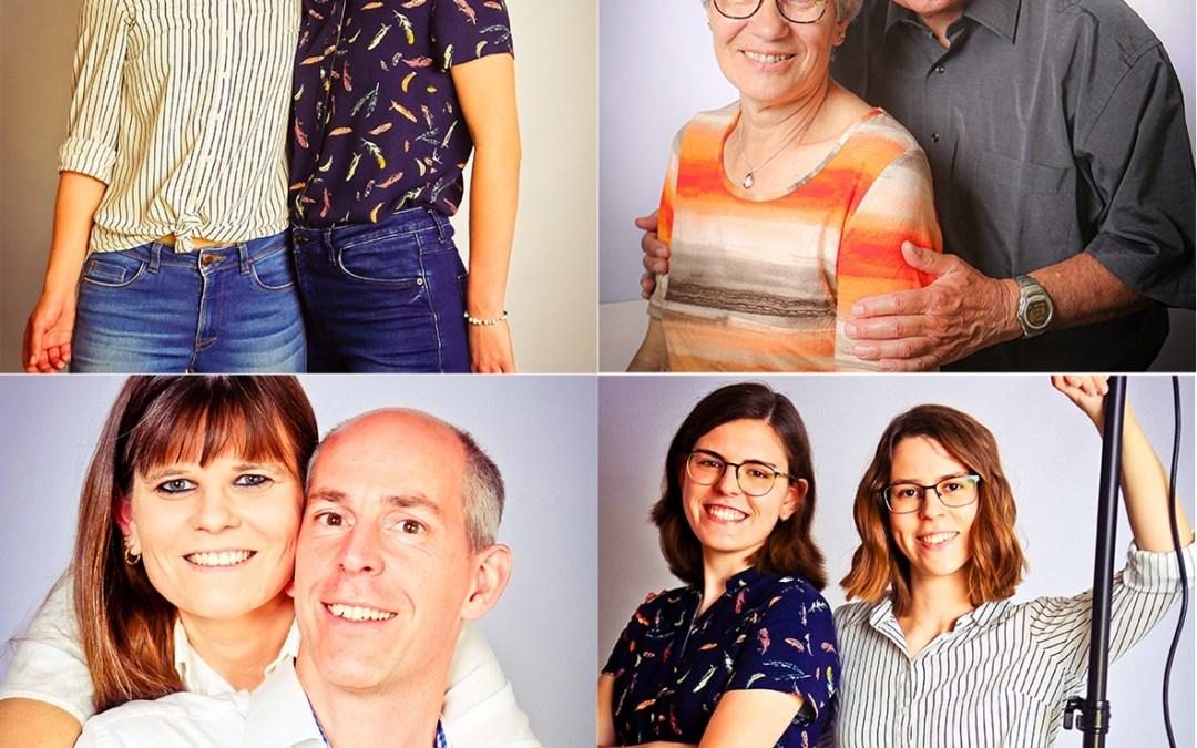 Familie Bognar im Fotostudio