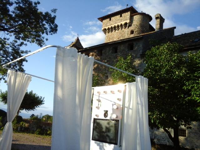 Photobooth au château d'Avully en Haute-Savoie.