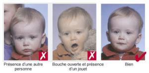 Photo identité bébé correcte