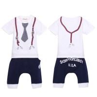 Cool Cotton Kids Baby Boys Tie Top T-Shirt+Short Pants ...