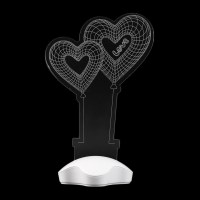 Amazing Acrylic 3D Illusion Bulb Lamp LED Night Light ...