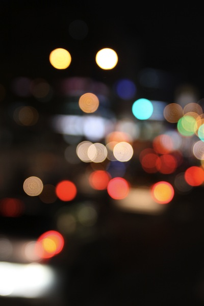 Blur of city lights