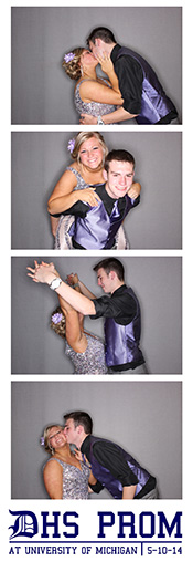 Prom couple photo booth strip