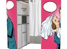 Photobooths   Pop Art Pink Wedding Photo Booth Skins ...