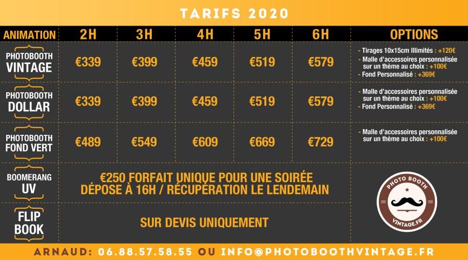 Grille Prix PhotoMaton Toulouse