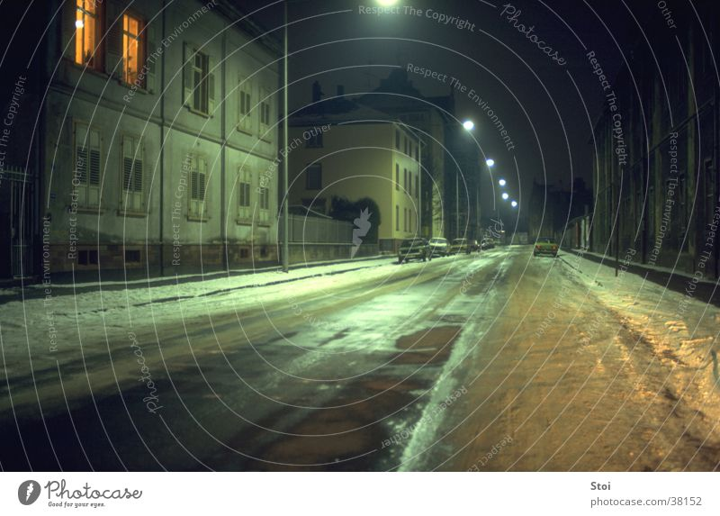 Winter Loneliness Street  a Royalty Free Stock Photo from