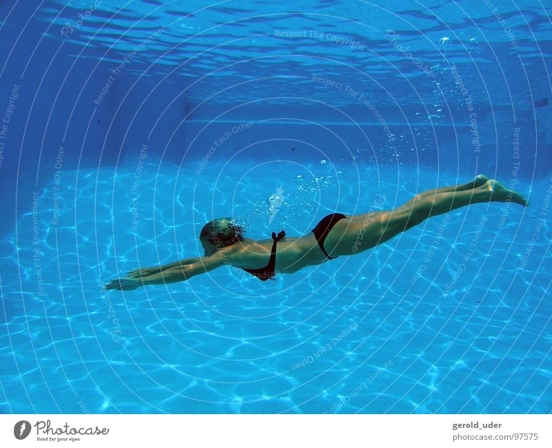 Woman Blue Water Summer  a Royalty Free Stock Photo from Photocase