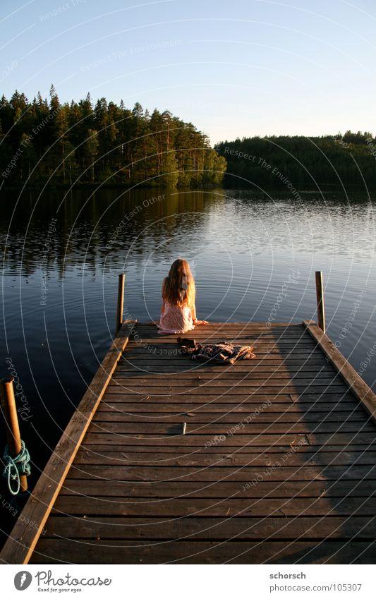 Bootsteg Wasser Wald Holz Ein Lizenzfreies Stock Foto Von Photocase