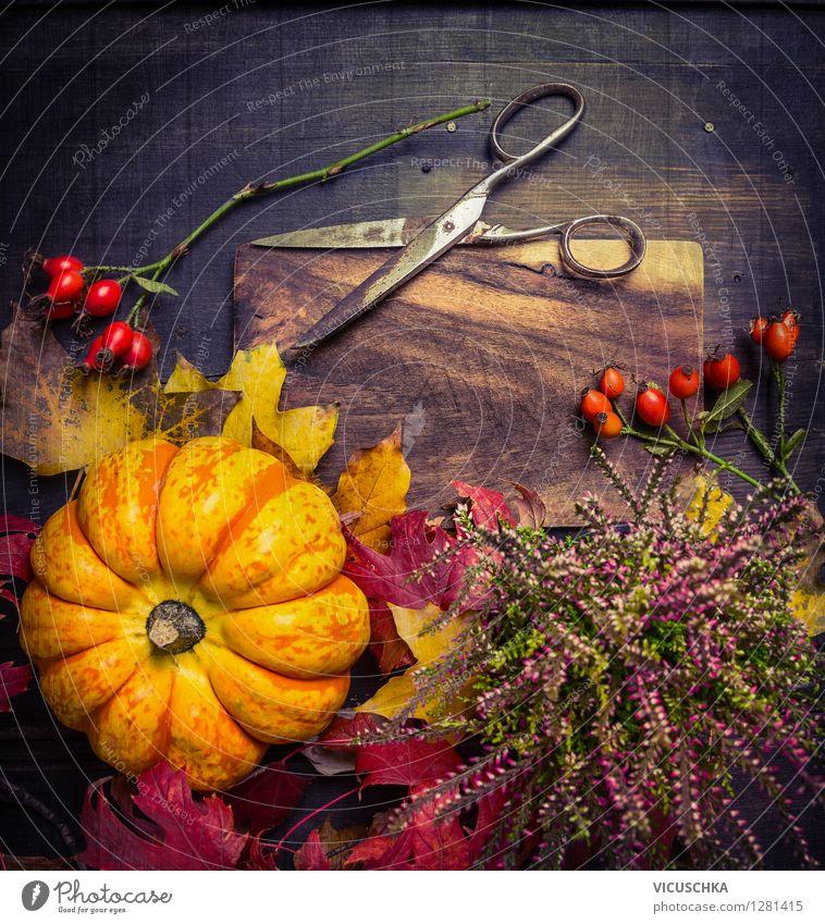 Herbst Dekoration basteln  ein lizenzfreies Stock Foto von Photocase