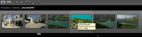 Lightroom detects previous ACR adjustment when this A700 is selected