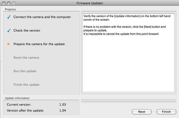 sony a77 firmware update mac
