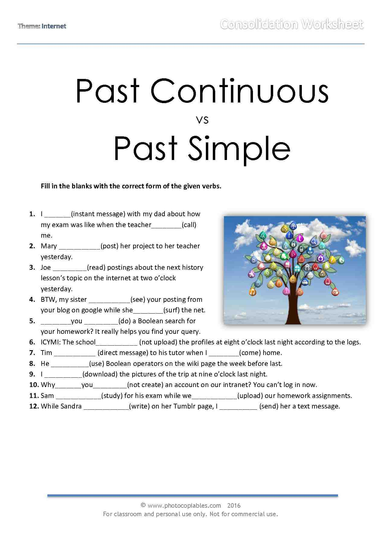 Simple Past Online Exercises