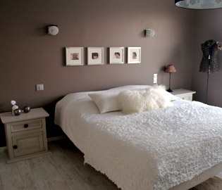 Dcoration chambre adulte marron