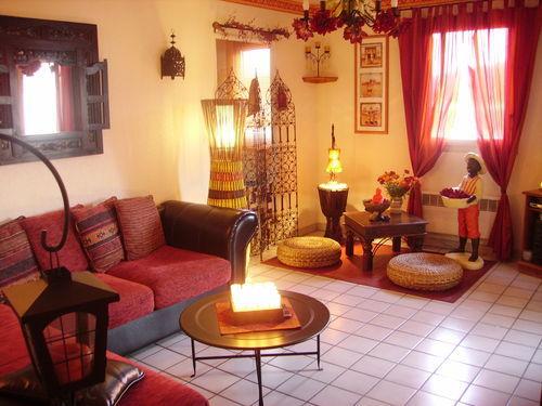dcoration salon couleurs chaudes
