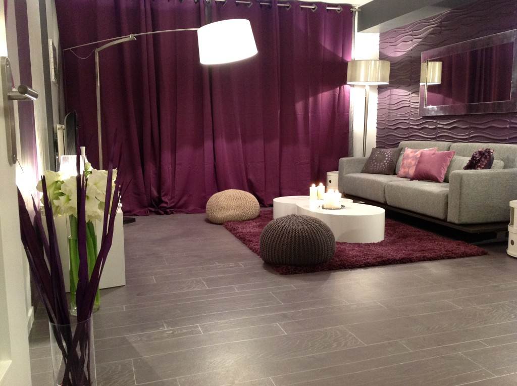dco chambre prune et taupe