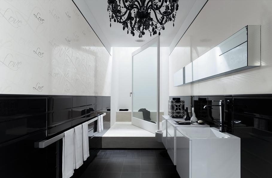 Deco Salle De Bains Noir Et Blanc