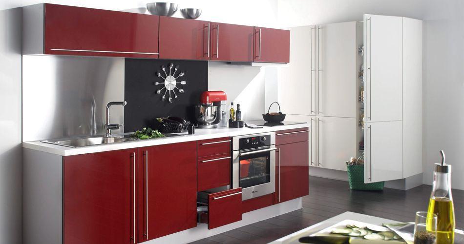cuisine grise et bordeaux interesting cuisine faade gris brillant crdence rouge with cuisine. Black Bedroom Furniture Sets. Home Design Ideas