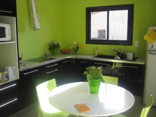 meuble cuisine vert pomme