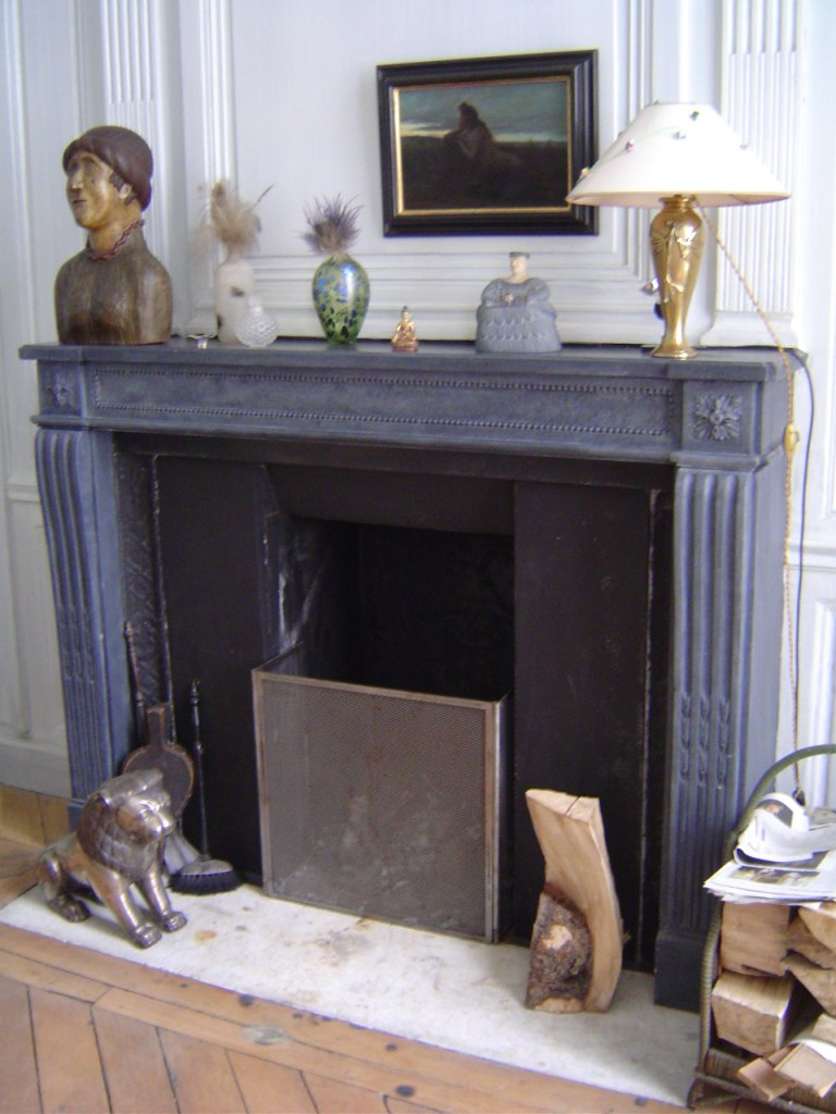 Photo dco chemine en marbre