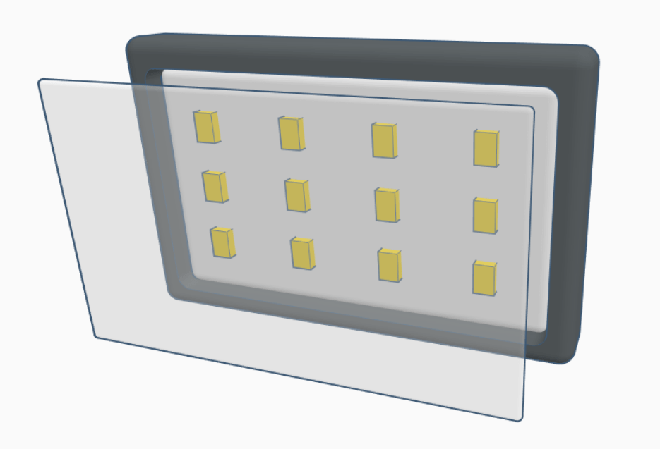 LED Panel 12 elements for dental photography and videography