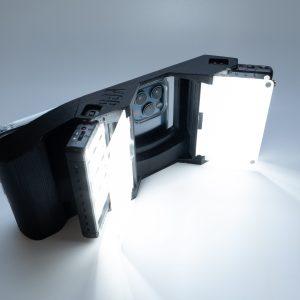 VPR 500 Unigrip in black, three quarter front top view