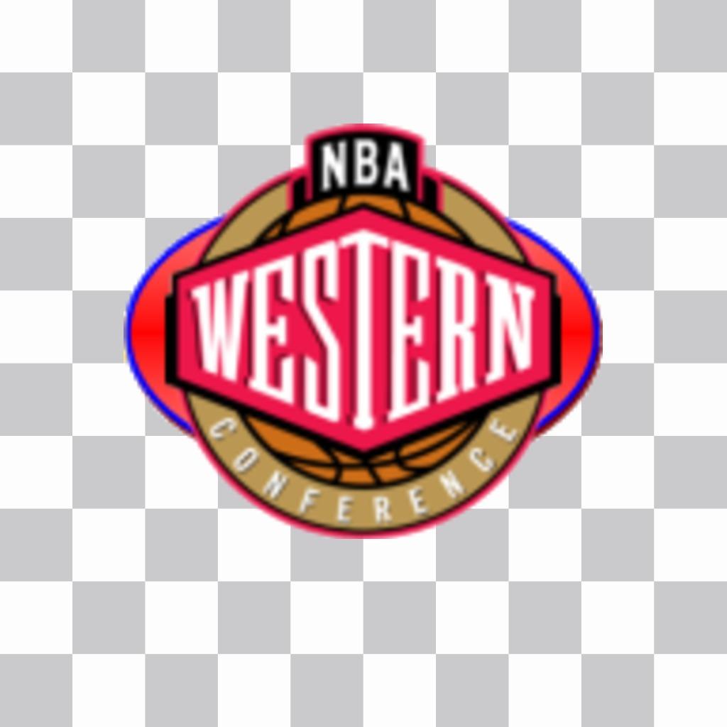 Aufkleber von theo Western Conference der NBA-Logo - Photoeffekte