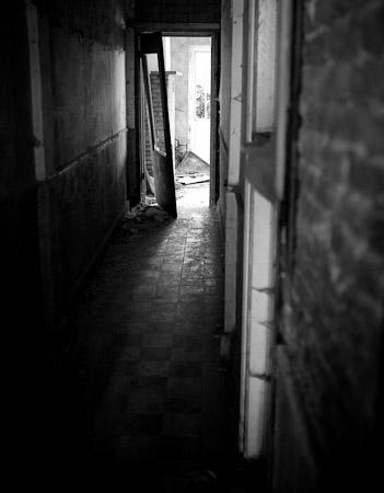Verlaten huis in Doel