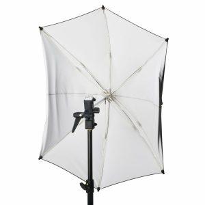 "ADW 45"" White Adjustable Umbrella"