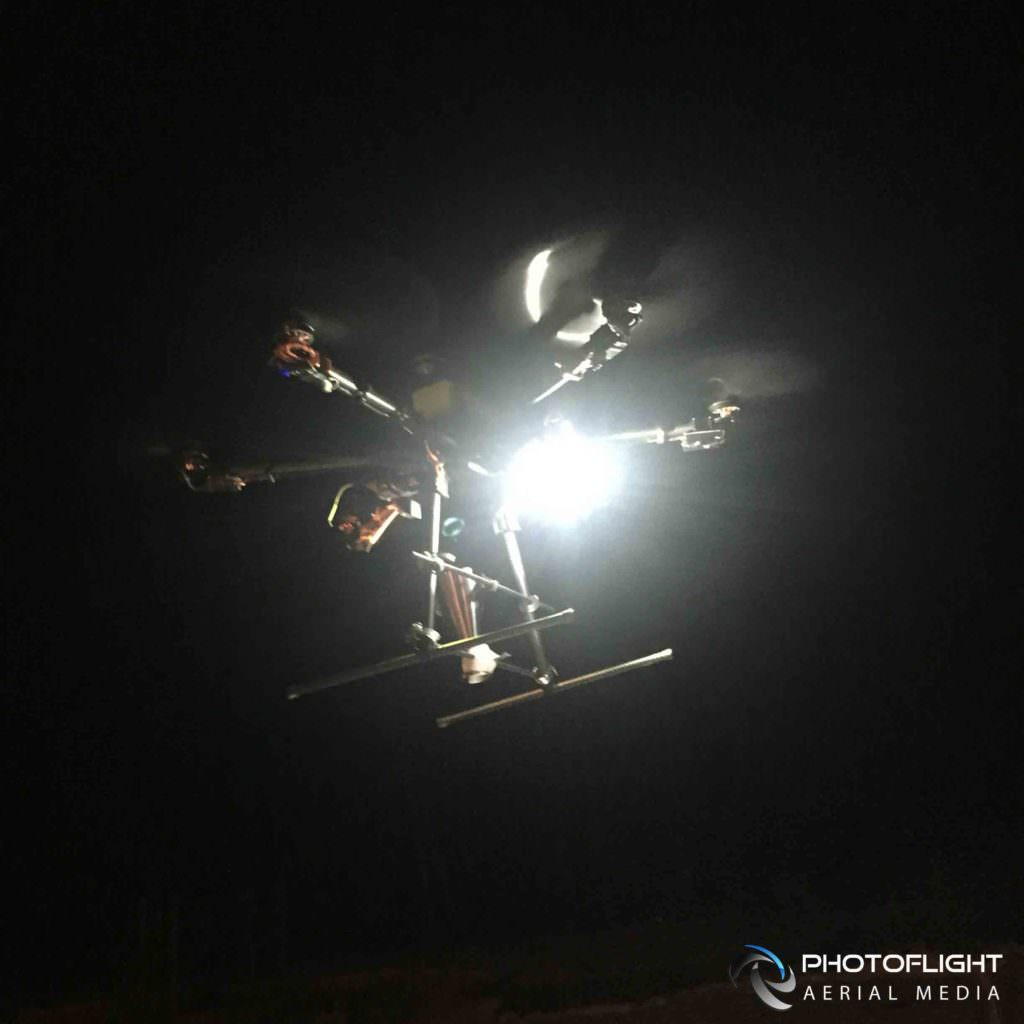 Aerial Drone Photography  Video Service at Night