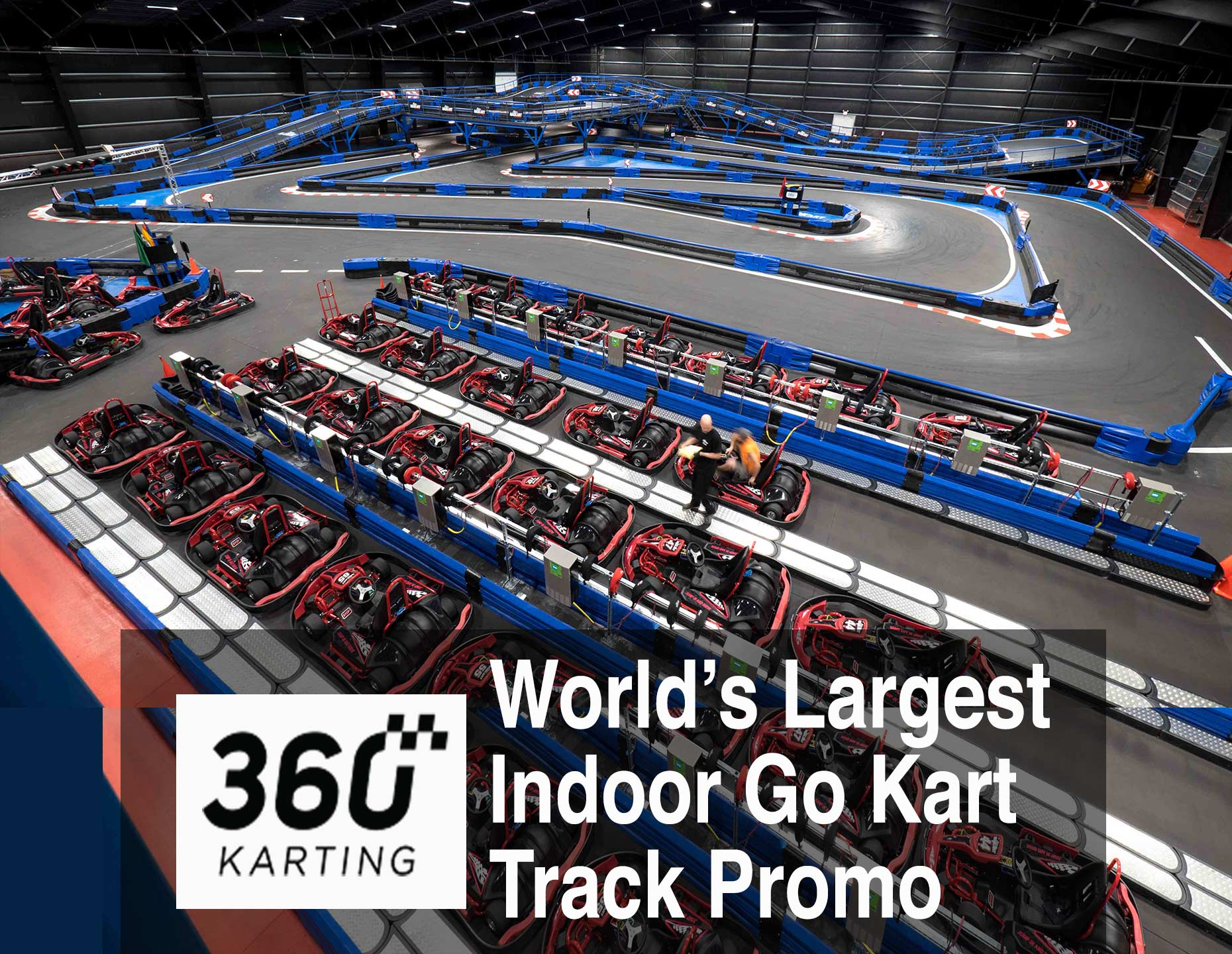Drone Video of World's Largest Indoor Go Kart Track | PhotoFlight