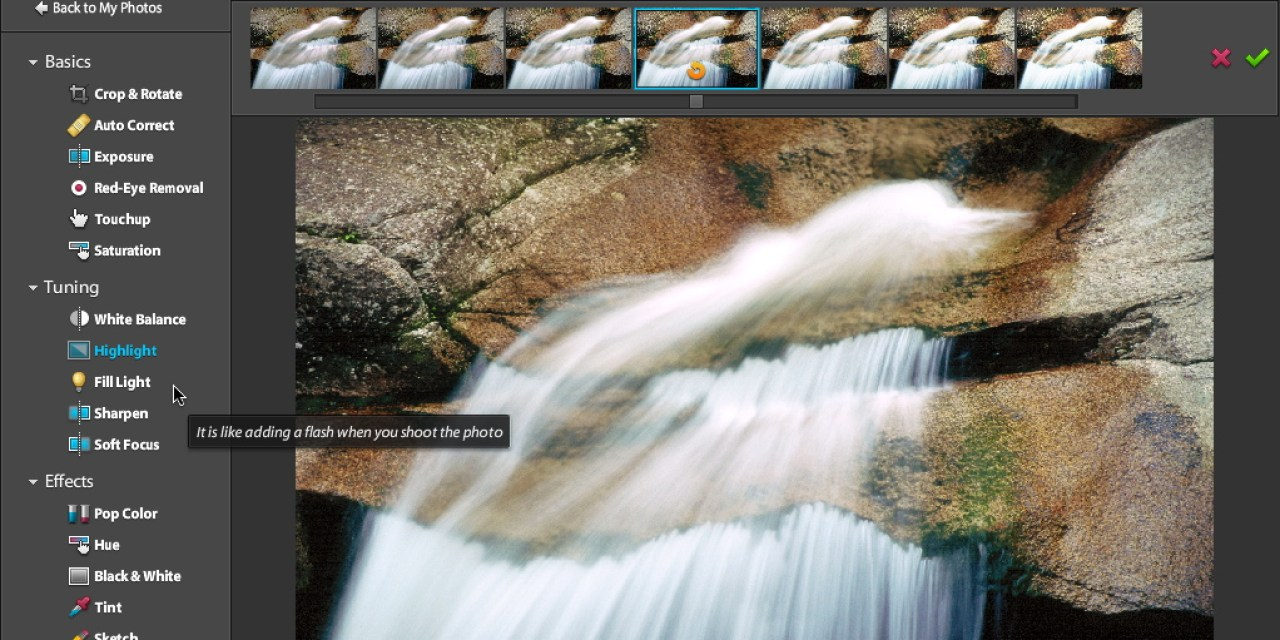 Photoshop Express : galerie et traitement photo en ligne