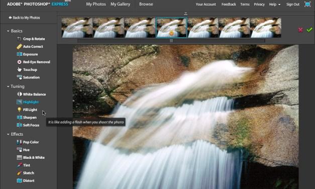 Photoshop Express : galerie et traitement photo en ligne