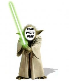 Template of photomontage of Yoda from Star Wars to add
