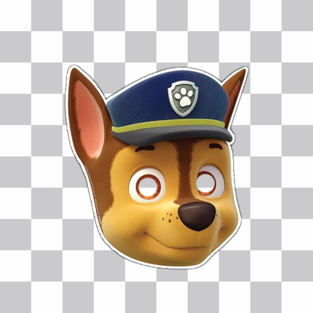 Mask Of Chase From Paw Patrol For Your Photos