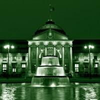 kurhaus (blau, grün, lila, triptychon oder einzelbilder)