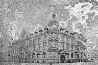 rathaus - steinstruktur (photo art edition) - PHOTOGALERIE WIESBADEN - wiesbaden - impressionen 3