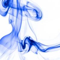 rauch 11 weiß blau - PHOTOGALERIE WIESBADEN - flamme rauch formen