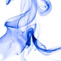 rauch 12 weiß blau - PHOTOGALERIE WIESBADEN - flamme rauch formen