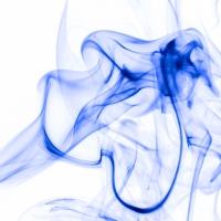 rauch 6 weiß blau - PHOTOGALERIE WIESBADEN - flamme rauch formen