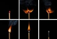 streichholzserie 2 - komplett - PHOTOGALERIE WIESBADEN - flamme rauch formen
