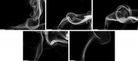 streichholzserie 3 - bilderserie 1 bis 5 (sw) - PHOTOGALERIE WIESBADEN - flamme rauch formen