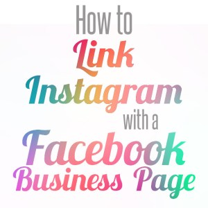 link instagram with facebook business page