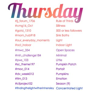 instagram daily themes