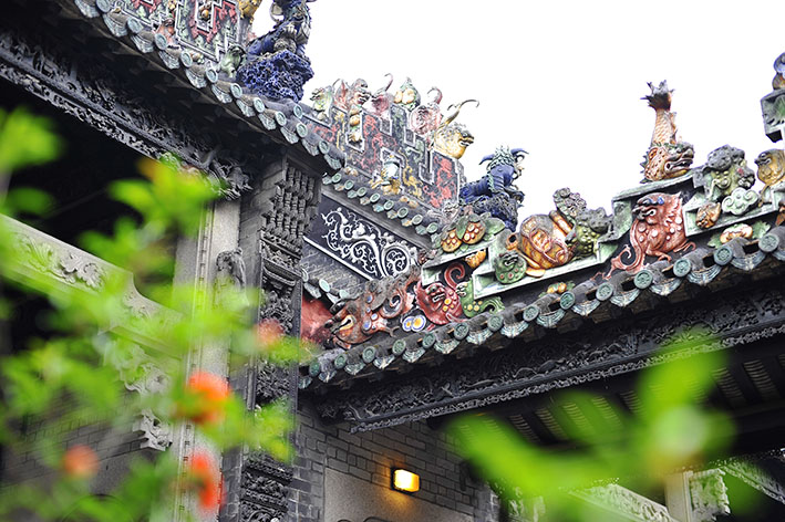 Chinese traditional roof photo