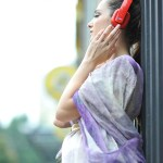 girl enjoy music outdoor portrait photography Toronto