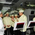 Samsung CEO visit factory