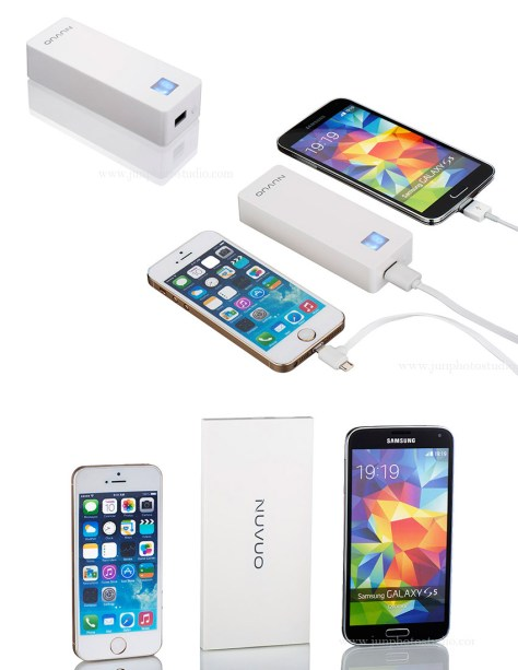 Toronto amazon product photographer white power bank for cell phone